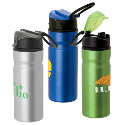 24 oz. Aluminum Water Bottles with Carry Loop