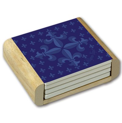 Square Absorbent Stone Coaster Sets w/ Wood Holder