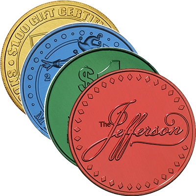 Colored Aluminum Metal Coins