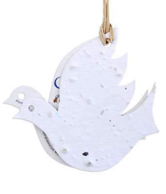 Two-Part Plantable Dove Ornaments