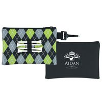 Pattern Golf Tee Pouch