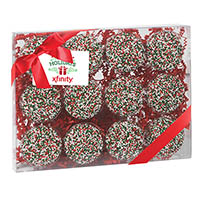 Chocolate Covered Oreos with Holiday Sprinkles Gift Box