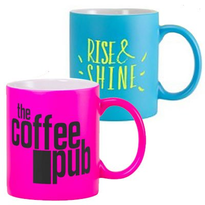 11 oz. Fluorescent Coffee Mugs - Matte Finish
