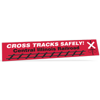 "15"" x 2.75"" Ultra Removable Bumper Stickers"