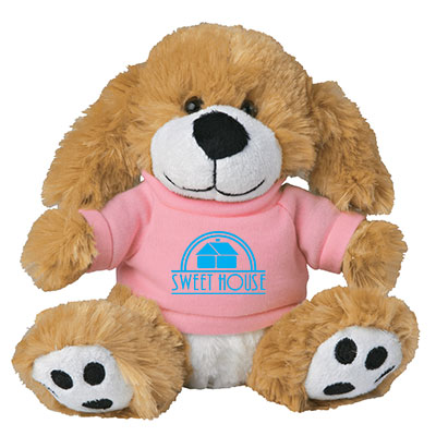 "6"" Plush Big Paw Dogs"