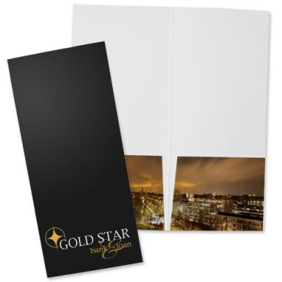 "4"" x 9"" Economy Full Color Mini Pocket Folders"