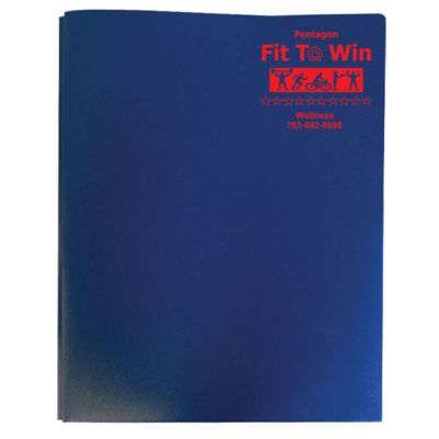 Confidential Three Prong Twin Pocket Folders - HIPAA Compliant