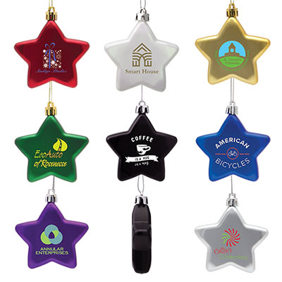 Shatter Resistant Flat Star Ornaments