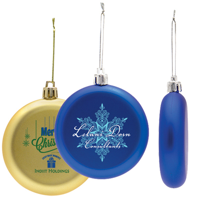 Shatter Resistant Flat Round Ornaments
