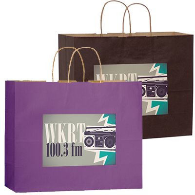 16 x 13 Matte Paper Shoppers - Full Color Imprint