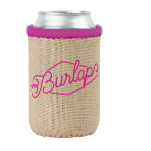 Burlap & Neoprene Can Holders - Custom Trim
