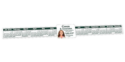 "1-1/2"" x 13"" Rectangle Keyboard or Monitor Calendars, Union Printed"