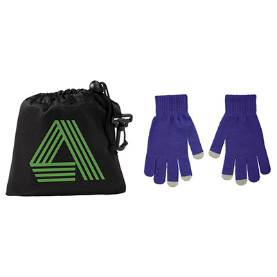 Touchscreen Gloves with Microfiber Drawstring Pouch
