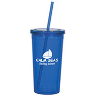 24 oz. Double Wall Acrylic Tumblers with Straw