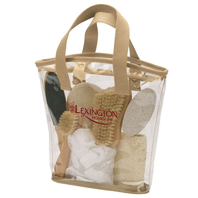 7 Piece Spa Kit in Zippered Tote