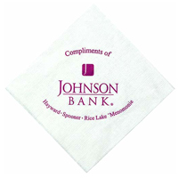1-Ply Textured White Cocktail Napkins
