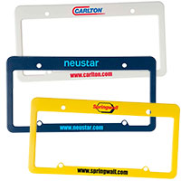 License Plate Frames - 4 Holes with Wide Top