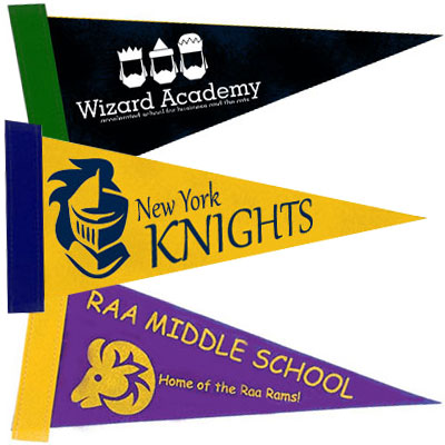 12 x 5 Colored Felt Pennants