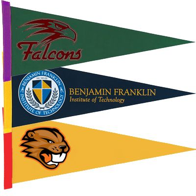 24 x 9 Colored Felt Pennants