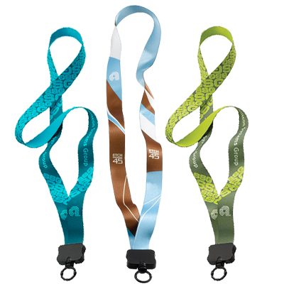 ".75"" Dye-Sublimated Multicolor Lanyards"
