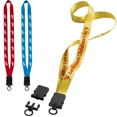 ".75"" Woven Nylon Lanyards with Snap-Buckle Release"