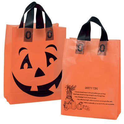 Orange Frosted Pumpkin Shopper Bags
