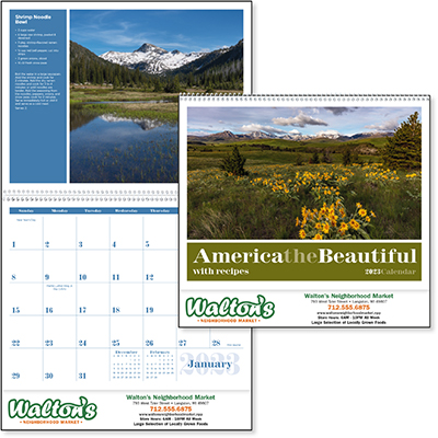 America the Beautiful Calendars with Recipes