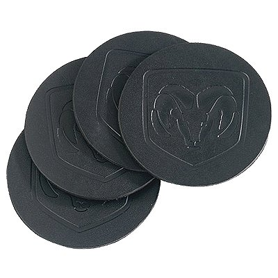 Biker's Black Soft Leather Coasters