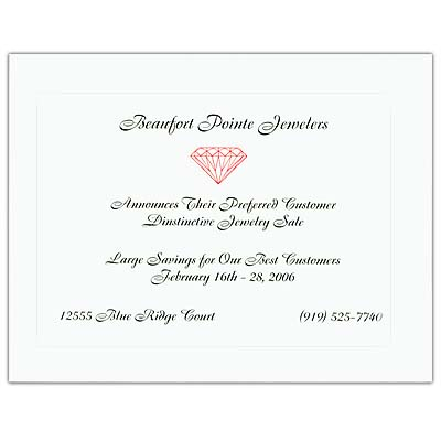"Vellum Baronial Cards, 5-1/2"" x 4-1/4"""