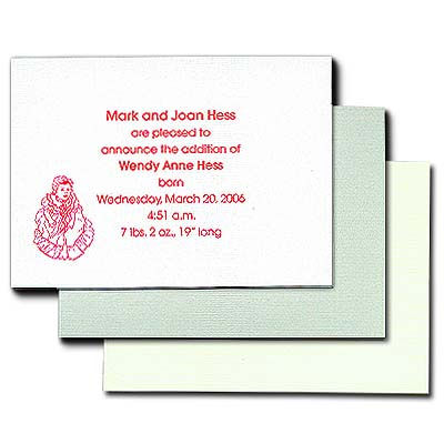 "Linen Baronial Cards, 4-7/8"" x 3-1/2"""