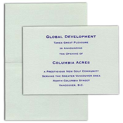 "Linen Baronial Folder Cards, 4-7/8"" x 3-1/2"""