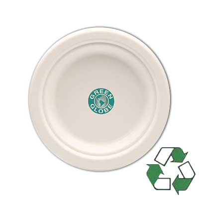 "7"" High Quantity Heavy Duty Biodegradable Paper Plates"