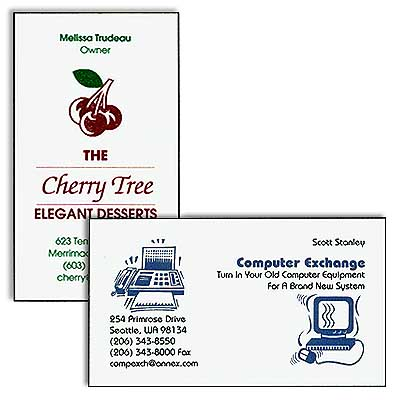 "Business Cards, 3-1/2 "" x 2"""