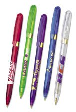 BIC Pivo Clear Gold Twist Action Pens
