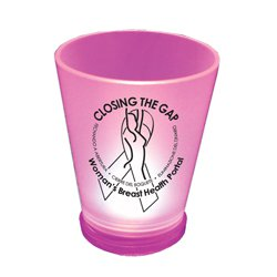 Breast Cancer Awareness, Pink Lighted Shot Glasses, 1.5 oz.