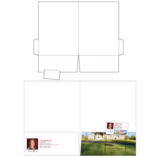 "9"" x 12"" Style A Business Card Presentation Folders"