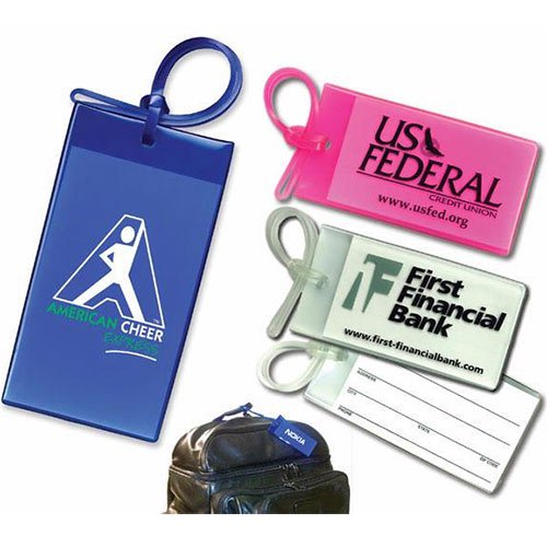 Sof-Touch Business Card Luggage Tags