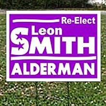"Political Cardboard Yard Signs, Double-Sided, Frame Included, 21"" x 34-1/2"""