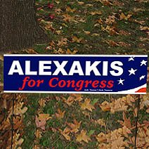 "8"" x 26"" Double Sided Political Cardboard Yard Signs"