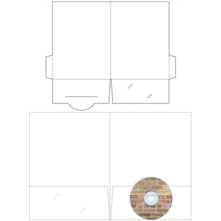 "9"" x 12"" CD Holder Presentation Folders"