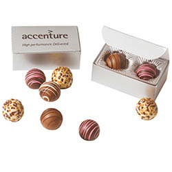 2 Piece Chocolate Truffles in Gift Box, Kosher