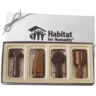 Chocolates, 4 Piece Chocolate Tools Gift Box, Kosher
