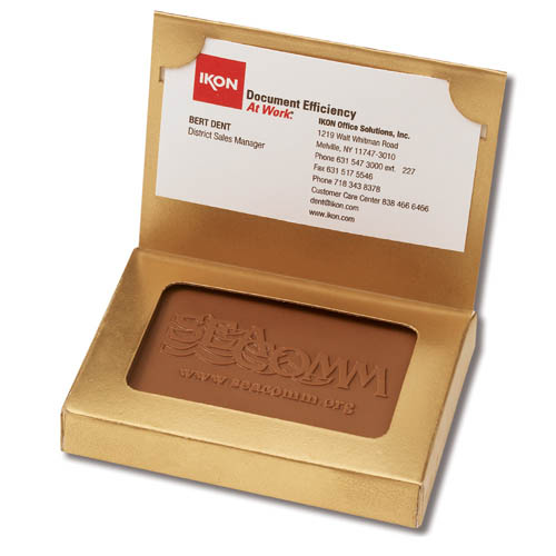 Chocolate Cookies in Business Card Box, Kosher