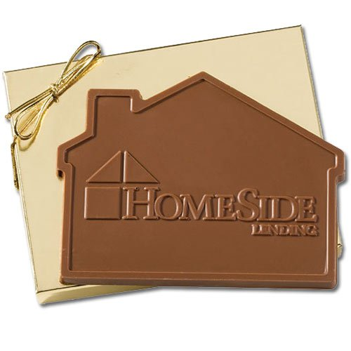 House Shaped Chocolate Bars with Mold Imprint 5 oz., Kosher
