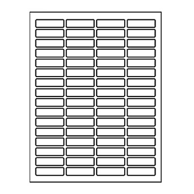 "Laser Labels, Return Address 1.813"" x 0.5"" Sheet"
