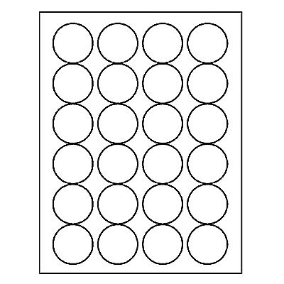 "Laser Labels, Circle 1.67"" Sheet"