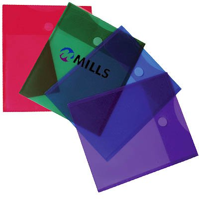Plastic Top Open Envelopes, Top Open Velcro, 9-5/8 x 11-3/4