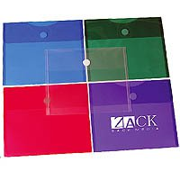 Plastic Side Open Envelopes, Velcro Closure 11-3/4 x 9-5/8