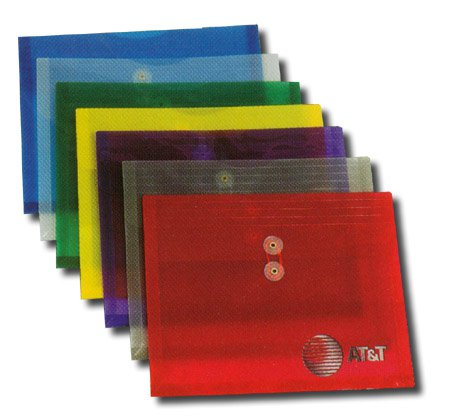 Plastic Side Open Envelopes, String Tie Closure 12 x 9-5/8