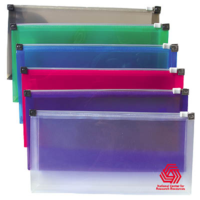Plastic Mini Envelopes w/ Gusset & Zip Lock Closure, 9.875 x 5